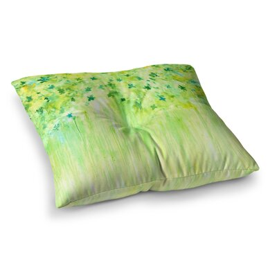 Rosie Brown April Showers Lime Square Floor Pillow Size: 23 x 23