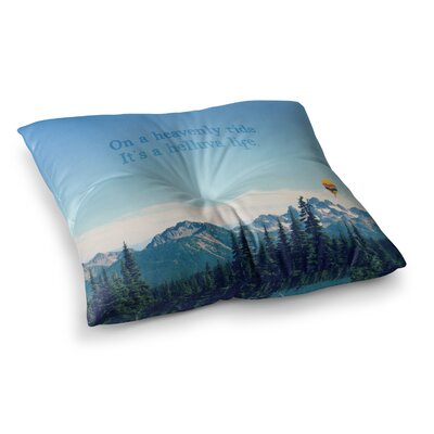 Robin Dickinson Its a Helluva Life Mountain Square Floor Pillow Size: 23 x 23