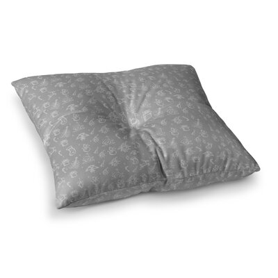 Snap Studio Miniature Christmas Square Floor Pillow Size: 23 x 23, Color: Gray