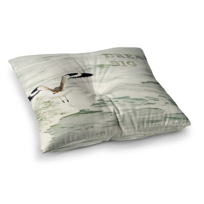 Robin Dickinson Dream Big Ocean Bird Square Floor Pillow Size: 26 x 26