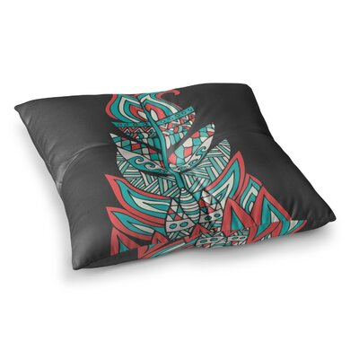 Pom Graphic Design a Romantic Feather Square Floor Pillow Size: 23 x 23