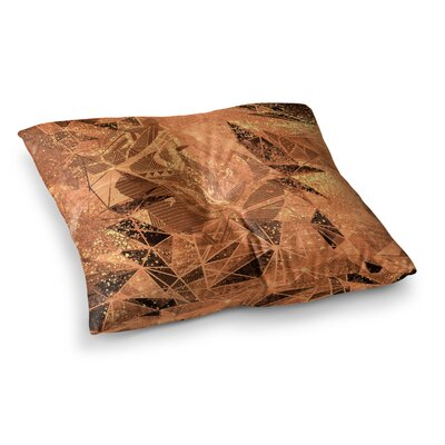 Marianna Tankelevich Geometry of Fire Mixed Media Square Floor Pillow Size: 23 x 23