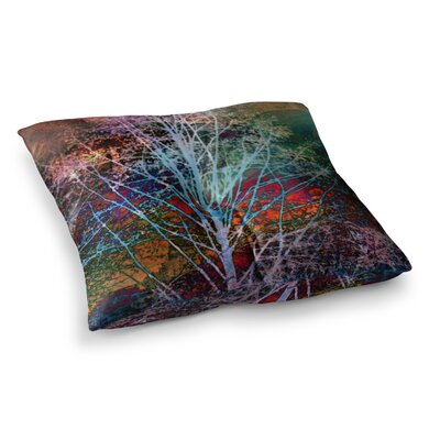 Sylvia Cook Trees in the Night Square Floor Pillow Size: 23 x 23