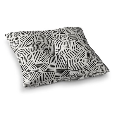 Pom Graphic Design Inca Trail Square Floor Pillow Size: 23 x 23, Color: Black/White