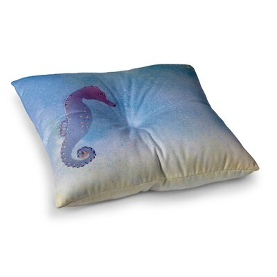 Infinite Spray Art Seahorse Painting Square Floor Pillow Size: 26 x 26