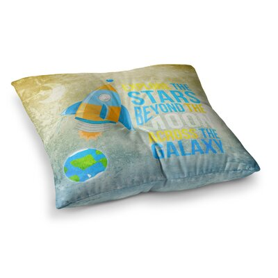 Nick Atkinson Explore the Stars Square Floor Pillow Size: 26 x 26