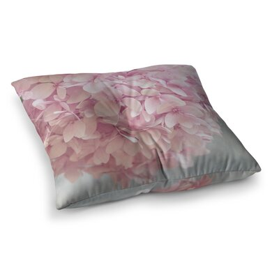 Suzanne Harford Pastel Hydrangea Flowers Floral Square Floor Pillow Size: 23 x 23