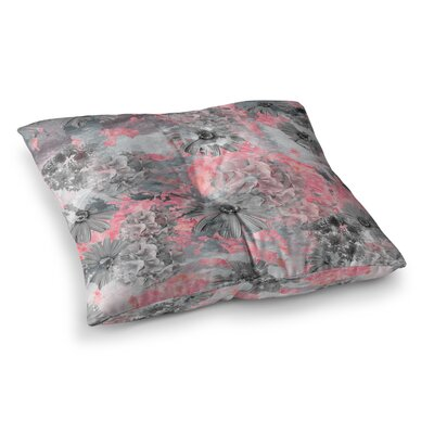 Zara Martina Mansen Garden Square Floor Pillow Size: 23 x 23, Color: Red