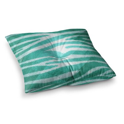 Nick Atkinson Zebra Print Texture Square Floor Pillow Size: 23 x 23, Color: Green
