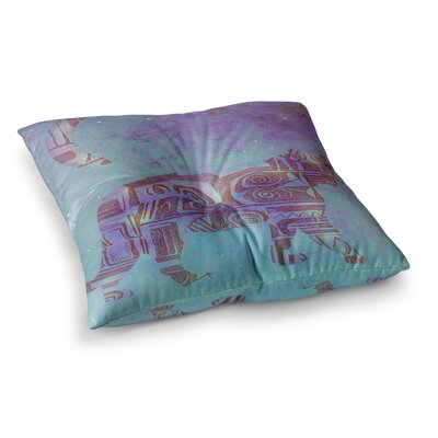 Marianna Tankelevich Panther at Night Square Floor Pillow Size: 26 x 26