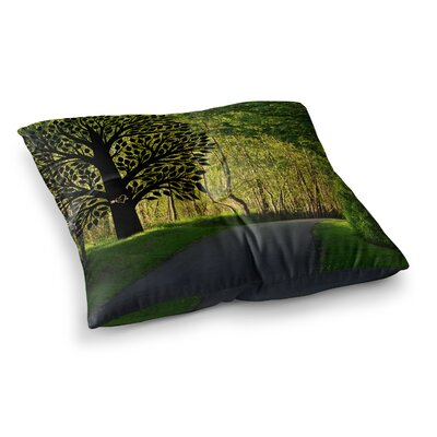 Robin Dickinson Love Forest Square Floor Pillow Size: 23