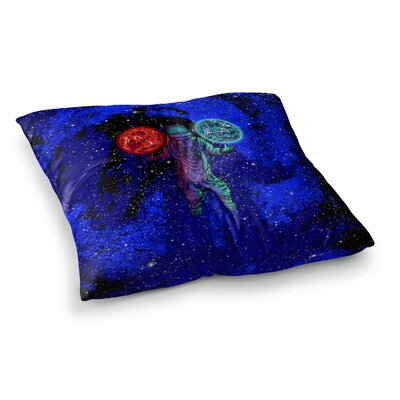 BarmalisiRTB King Of Planets Digital Square Floor Pillow Size: 23 x 23