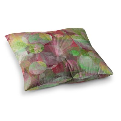 Marianna Tankelevich Dream Place Square Floor Pillow Size: 23 x 23, Color: Green/Purple