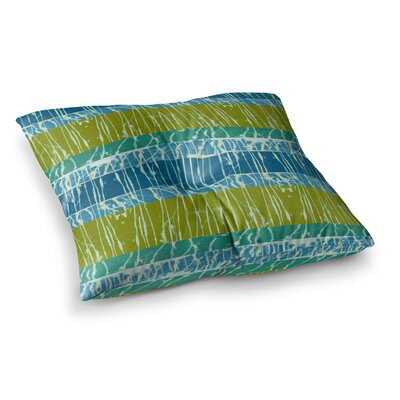 Nina May Desert Splatter Square Floor Pillow Size: 23 x 23, Color: Green/Yellow