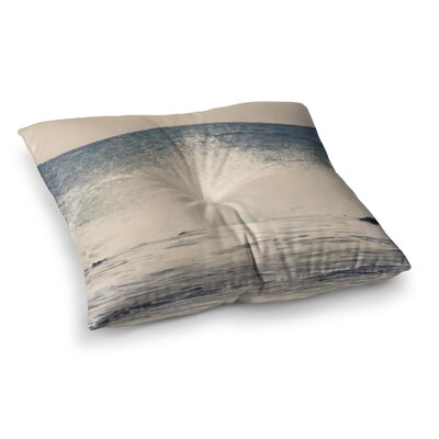Sylvia Coomes Crashing Waves 2 Coastal Square Floor Pillow Size: 26 x 26