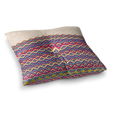 Pom Graphic Design Horizons II Square Floor Pillow Size: 26 x 26, Color: Orange