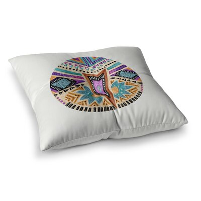 Pom Graphic Design Multicultural Icon Abstract Geometric Square Floor Pillow Size: 23 x 23
