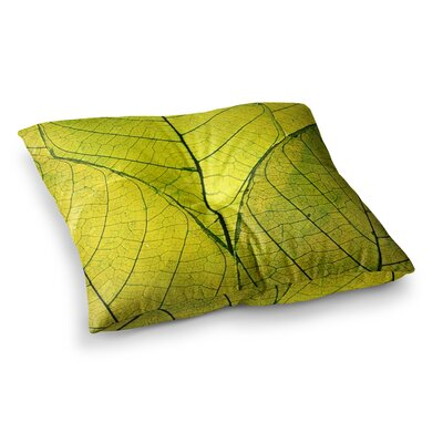 Robin Dickinson Every Leaf a Flower Square Floor Pillow Size: 23 x 23