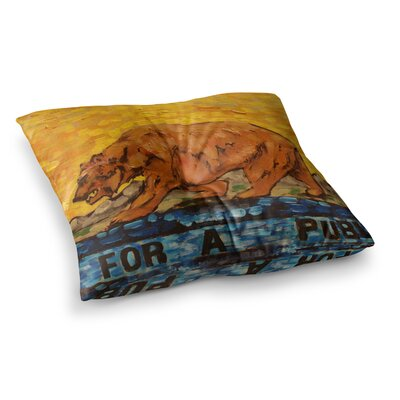 Nathan Gibbs Art for a Public Bear Square Floor Pillow Size: 26 x 26