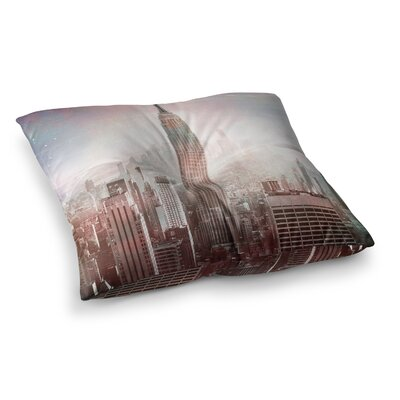 Suzanne Carter NYC Digital Square Floor Pillow Size: 26 x 26