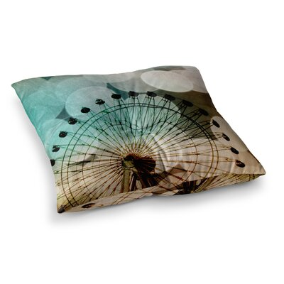 Sylvia Coomes Ferris Wheel Silhouette Square Floor Pillow Size: 26 x 26