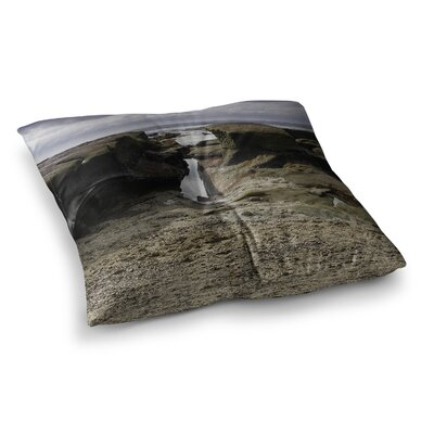 Nick Nareshni Stones Leading to Ocean Square Floor Pillow Size: 23 x 23