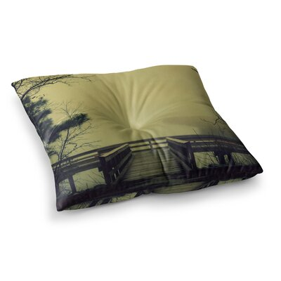Robin Dickinson Fog on the River Square Floor Pillow Size: 23 x 23