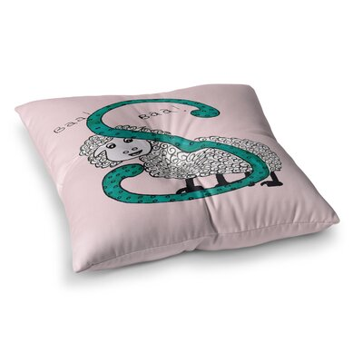 Rosie Brown Sis for Sheep Square Floor Pillow Size: 26 x 26, Color: Pink