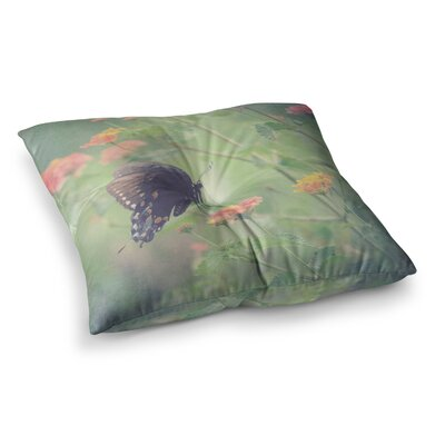 Robin Dickinson Captivating II Flower Square Floor Pillow Size: 26 x 26