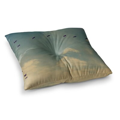 Robin Dickinson Pterodactyls Square Floor Pillow Size: 26 x 26
