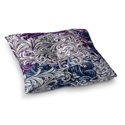 Nick Atkinson Celtic Floral I Abstract Square Floor Pillow Size: 26 x 26