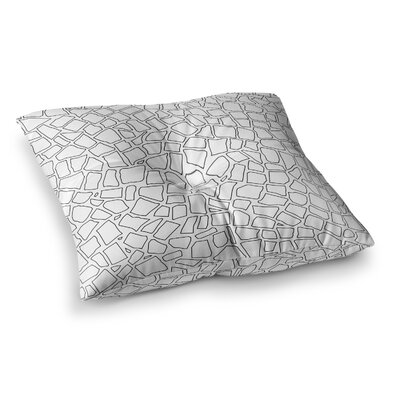 Project M British Mosaic Square Floor Pillow Size: 26 x 26, Color: White