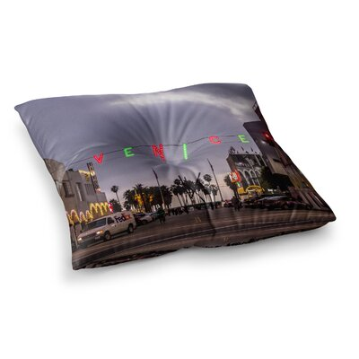 Juan Paolo Venice Christmas Holiday Photography Square Floor Pillow Size: 23 x 23