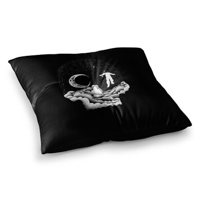BarmalisiRTB Space Skull Illustration Square Floor Pillow Size: 23 x 23
