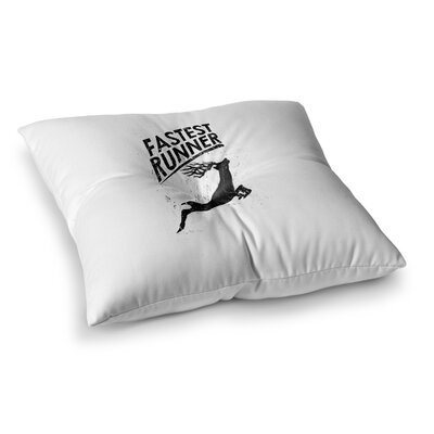 BarmalisiRTB Fastest Runner Square Floor Pillow Size: 26 x 26