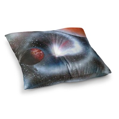 Infinite Spray Art Starburst Galaxy Square Floor Pillow Size: 23 x 23