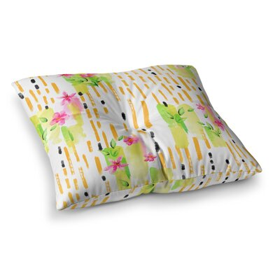 Victoria Krupp Watercolor Garden Square Floor Pillow Size: 26 x 26