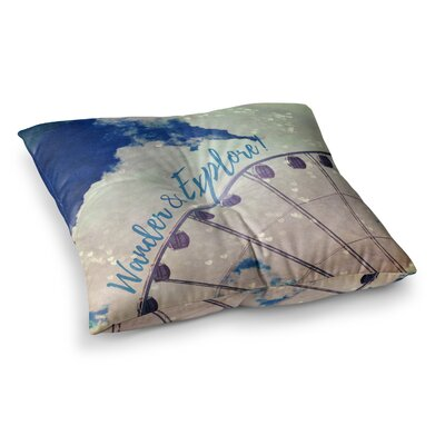 Robin Dickinson Wander and Explore Photography Square Floor Pillow Size: 23 x 23