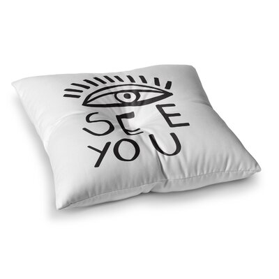 Vasare Nar Eye See You Square Floor Pillow Size: 26 x 26