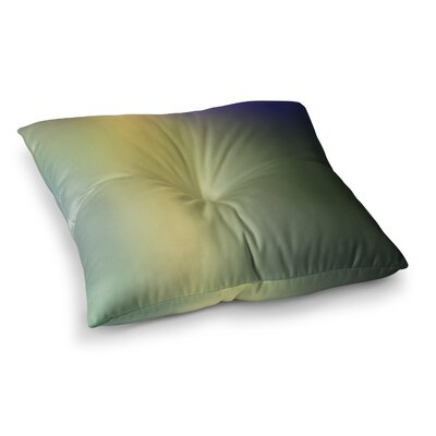 Malia Shields Aura Series #4 Abstract Square Floor Pillow Size: 23 x 23