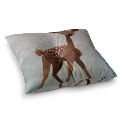 Rachel Kokko Oh Deer Square Floor Pillow Size: 26 x 26
