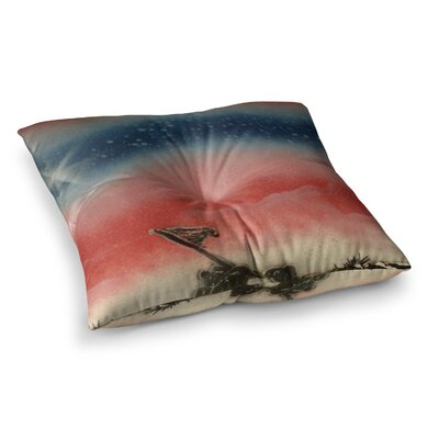 Infinite Spray Art Veterans Day Square Floor Pillow Size: 23 x 23