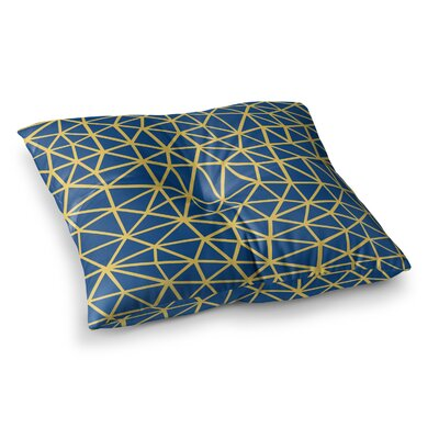 Project M Segment and Digital Square Floor Pillow Size: 26 x 26, Color: Navy
