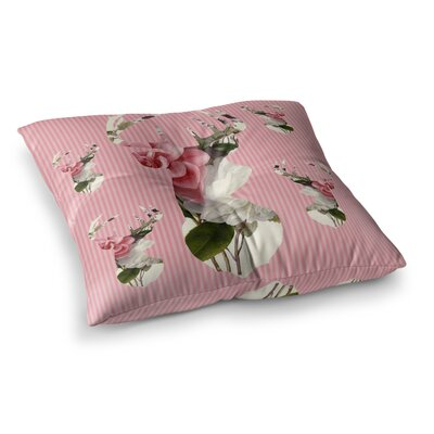 Suzanne Carter Floral Deer Square Floor Pillow Size: 26 x 26