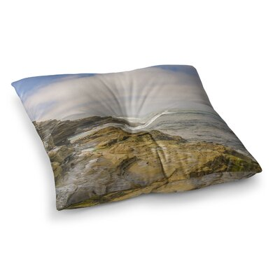 Nick Nareshni Rocks over The Water Square Floor Pillow Size: 26 x 26