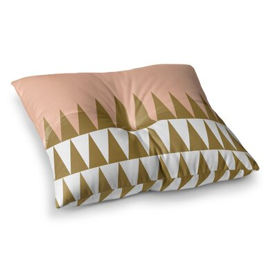 Suzanne Carter Peach Geo Peach Square Floor Pillow Size: 23 x 23