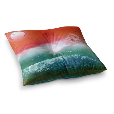 Infinite Spray Art Dream Seascape Square Floor Pillow Size: 26 x 26