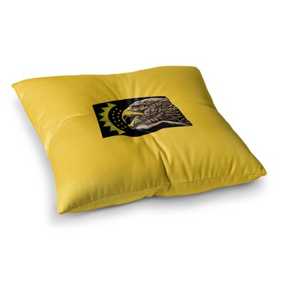 BarmalisiRTB North Dakota Digital Square Floor Pillow Size: 26 x 26