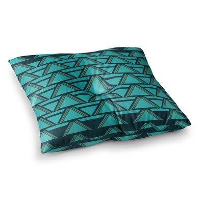 Nina May Deco Angles Square Floor Pillow Size: 23 x 23, Color: Green
