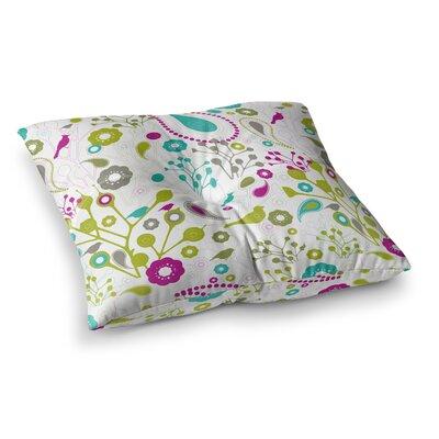 Nicole Ketchum Bird Fantasy Square Floor Pillow Size: 23 x 23